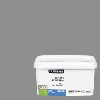 Idropittura lavabile Mano unica Grigio Sasso 3 - 2,5 L Luxens