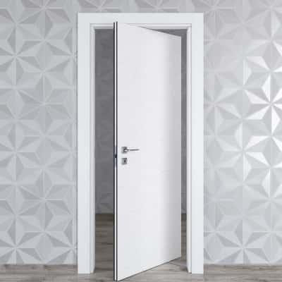 Porta da interno rototraslante Hunk cemento calce 70 x H 210 cm dx
