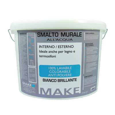 Smalto murale bianco brillante Make 10 L