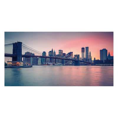 quadro su tela Sunset in Ny 90x190