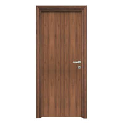 Porta da interno battente Auda noce 80 x H 210 cm reversibile
