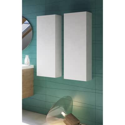 Semicolonna Bark acero bianco 1 anta L 35 x H 100 x P 35 cm