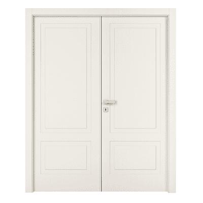 Porta da interno battente Shibuya 2 Ante Laccato Bianco 140 x H 210 cm sx