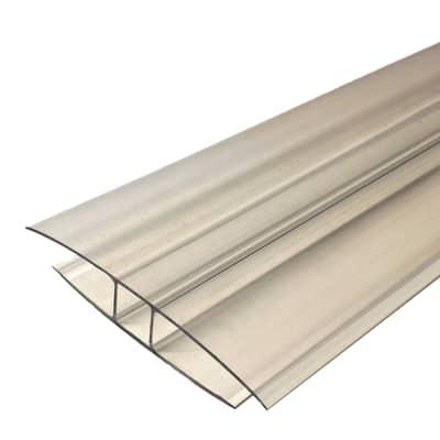 Profilo H Onduline in policarbonato 7,3 x 210  cm, spessore 10 mm