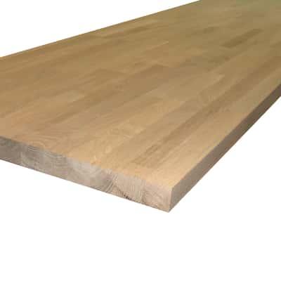 Piano cucina legno grezzo Rovere 3.8 x 60 x 245 cm