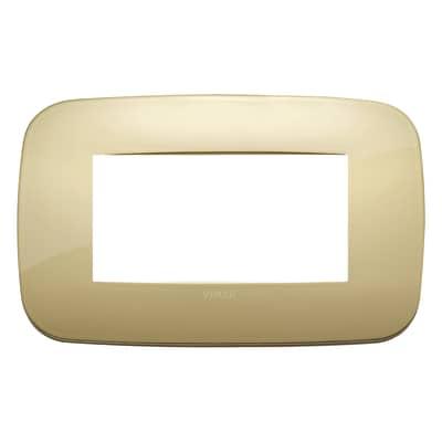 Placca 4 moduli Vimar Arké oro