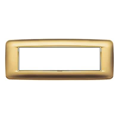 Placca 7 moduli Vimar Eikon  Round oro satinato