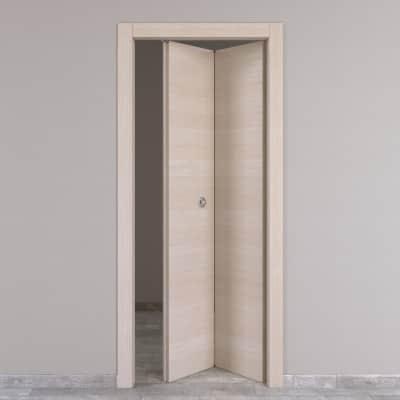 Porta da interno pieghevole Grain rovere grano 80 x H 210 cm dx