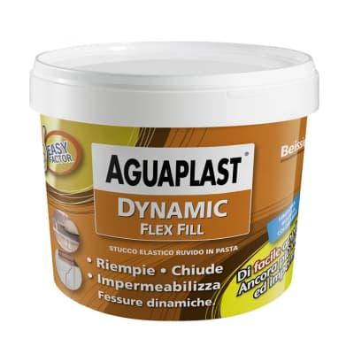 Stucco in pasta Aguaplast Dynamic Flex Fill ruvido grigio 1 kg
