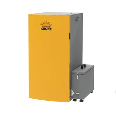 Caldaia a pellet Krone BOILER28KR-PA 24,5 kW arancio e grigio