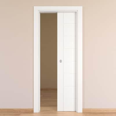 Porta da interno scorrevole chamber bianco 80 x h 210 cm reversibile prezzi e offerte online - Porta scorrevole da interno ...
