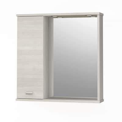 Armadietto a specchio Rimini L 73 x H 74 x P  16 cm larice