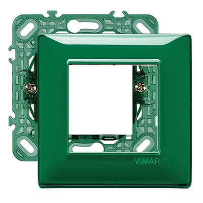 Placca 2 moduli Vimar Plana smeraldo