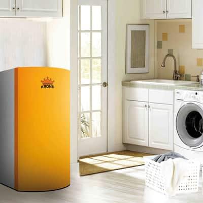 Caldaia a pellet krone boiler28kr 24 5 kw arancio e grigio - Stufe a pellet da collegare ai termosifoni ...