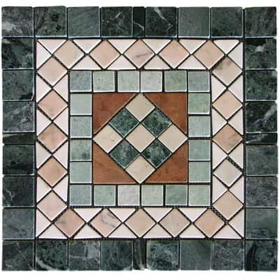 Composizione decorativa Ostia multicolor 60 x 60 cm