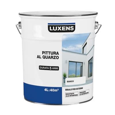 Pittura al quarzo per esterno Luxens bianco 4 L