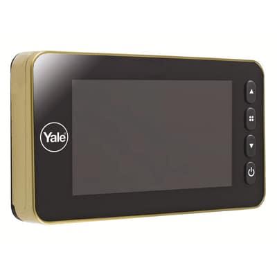 Spioncino digitale per porte blindate Yale Con rilevatore di presenza integrato ottone