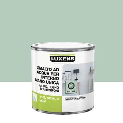 Smalto manounica Luxens all'acqua Verde Cactus 6 satinato 0.5 L
