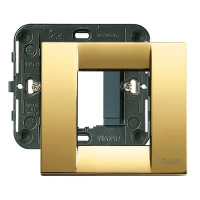 Placca 2 moduli Vimar Idea oro lucido