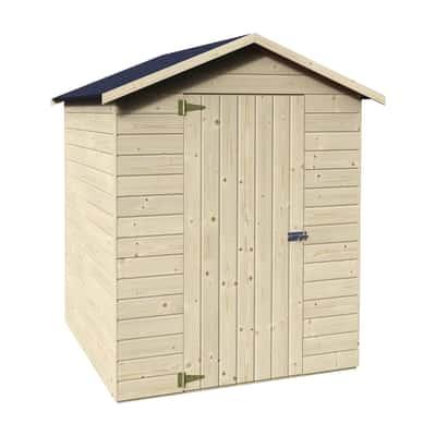 Casetta in legno grezzo margherita 2 37 m spessore 12 mm for Casette per uccelli leroy merlin