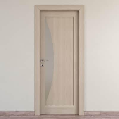 Porta da interno battente Halfmoon paglia 60 x H 210 cm dx