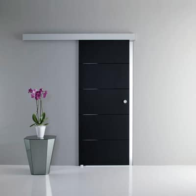 Porta da interno scorrevole Pegaso nero 76 x H 215 cm reversibile ...
