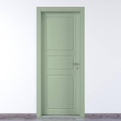 Porta da interno battente New York verde 90 x H 210 cm sx