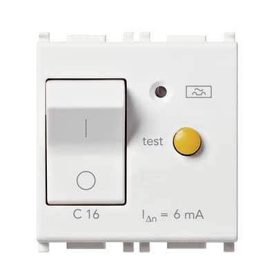 Interruttore magnetotermico magnotermico automatico Vimar Plana bianco