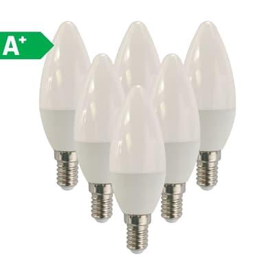 6 lampadine LED Lexman E14 =40W oliva luce calda 270°