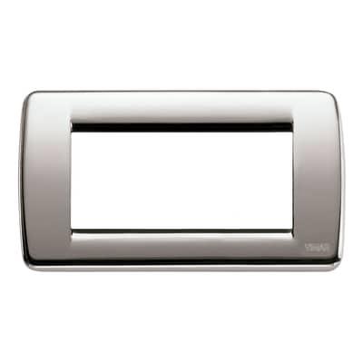 Placca 4 moduli Vimar Idea nichel spazzolato