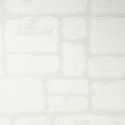Carta da parati Mattone casolar bianco 10 m
