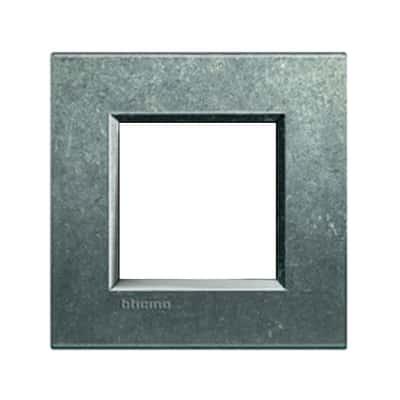 Placca 2 moduli BTicino Livinglight native
