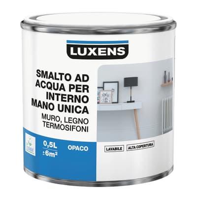 Smalto manounica Luxens all'acqua Bianco opaco 0.5 L