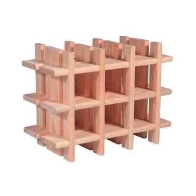 Scaffale legno portabottiglie 9 posti 2 ripiani l 43 x p for Portabottiglie leroy merlin