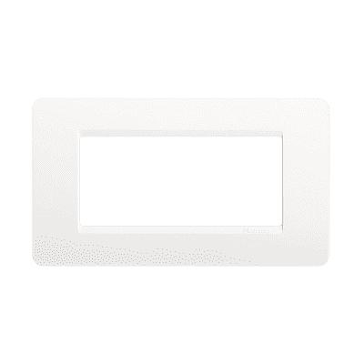 Placca 4 moduli BTicino Matix ghiaccio