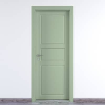 Porta da interno battente New York verde 90 x H 210 cm dx