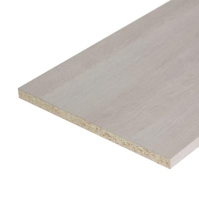 Pannello melaminico rovere chiaro 18 x 600 x 1820 mm