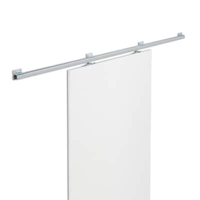 Binario scorrevole tango 186 cm grigio in acciaio for Leroy merlin porta scorrevole