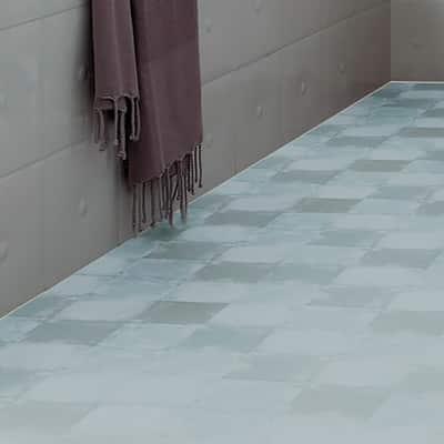 Pavimento vinilico adesivo square clear 1 5 mm prezzi e for Pavimento adesivo leroy merlin