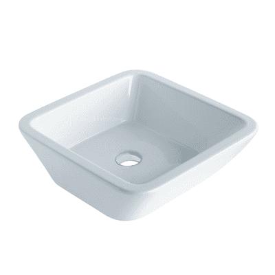 Lavabo da appoggio quadrato ø 45 x 16 cm