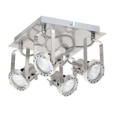 Plafoniera a 4 luci Inspire Technic cromo