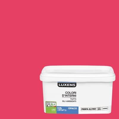 Idropittura lavabile Mano unica Rosa Shocking 3 - 2,5 L Luxens