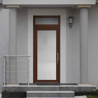 portoncino d'ingresso PVC Condo14 noce L 90 x H 250 sx