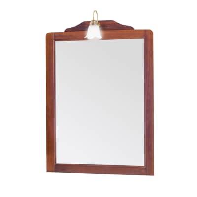 Specchio con faretto Laura noce 80 x 113 cm