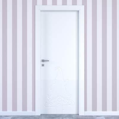 Porta da interno battente Dwarf white bianco 60 x H 210 cm dx