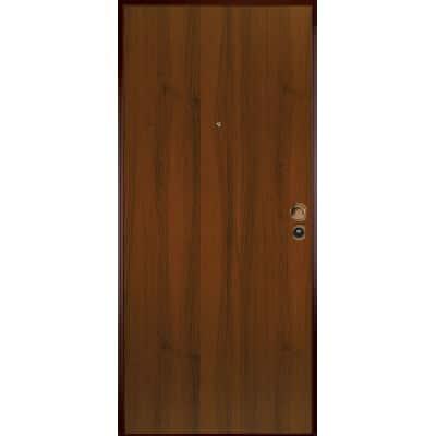 Porta blindata Bicolor bianco- noce L 90 x H 210 cm sx