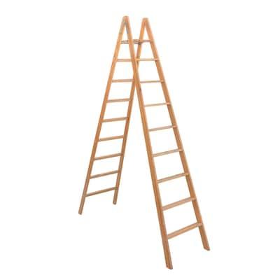 Scala doppia Legno Facal 9 gradini, per lavori fino a 3,6 m