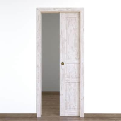Porta da interno scorrevole old town bianco sbiancato 80 x h 210 cm reversibile prezzi e offerte - Porta scorrevole da interno ...