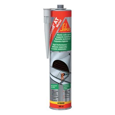 Sigillante ibrido SikaBond AT Metal grigio Sika 300 ml, per alluminio, acciaio, metallo