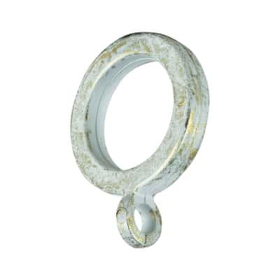 Anelli in PVC colore bianco e oro